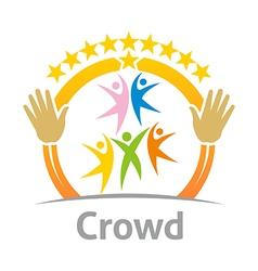 crowd community celebration children design vector image
