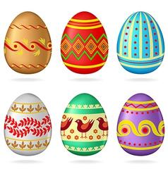egg collection ornamen vector image vector image
