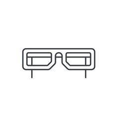 glasses thin line icon linear symbol vector image vector image