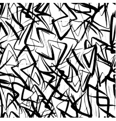 ink hand drawn abstract seamless pattern vector image