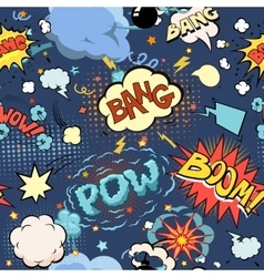 Seamless pattern background with comic book speech vector image