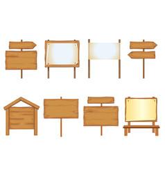 wooden signboards set vector image