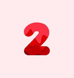 2 blood font template design vector