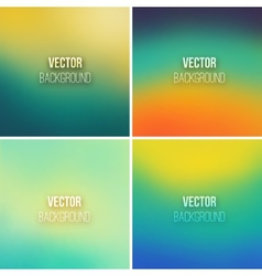 Abstract colorful blurred backgrounds set 11 vector