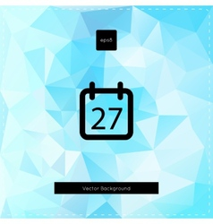 Abstract light blue polygonal background vector