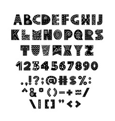 Alphabet in scandinavian style vector