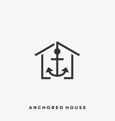 anchored house template vector image