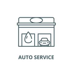 auto service line icon auto service vector image