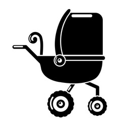 Baby carriage tricycles icon simple black style vector