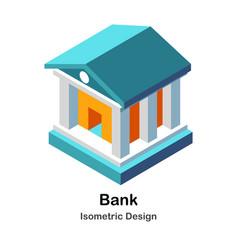 Bank isometric vector