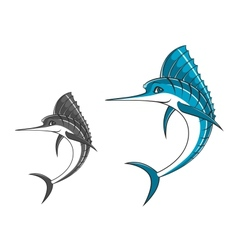 Big blue marlin vector image