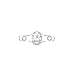 boxing belt flat icon vector image