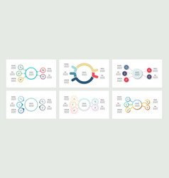 Business infographics organization charts with 5 vector