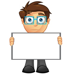Business Man Blank Sign 15 vector image