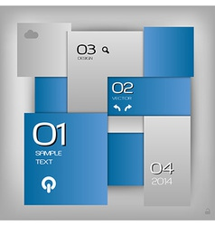 business squares template blue with text vector image