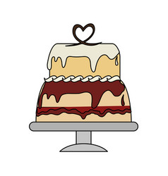 cake pastry icon image vector image