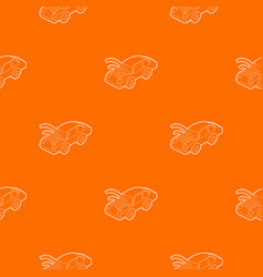 Car with wifi sign pattern orange vector