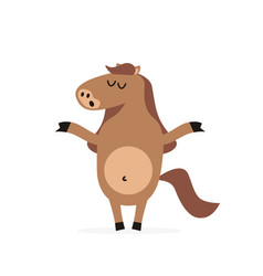 Cartoon horse mascot character vector