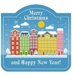 Christmas card day house vector