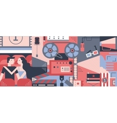 Cinema concept design flat vector image