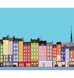 Cityscape Honfleur vector image