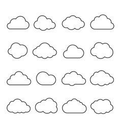 clouds line art icon vector image