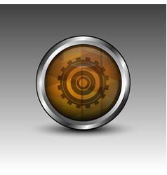 cog circle emblem vector image