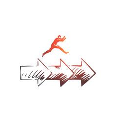consistency business arrow success concept vector image