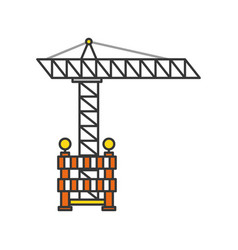 construction crane with fence vector image