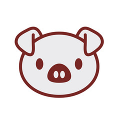 cute piggy face image vector image