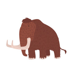 cute woolly mammoth isolated on white background vector image