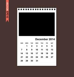 December 2014 calendar vector image