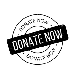 Donate Now rubber stamp vector image