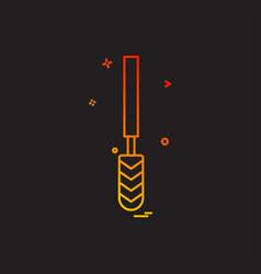 drill icon design vector image