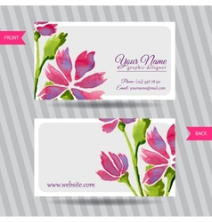 Elegant business card with bouquet flowers vector