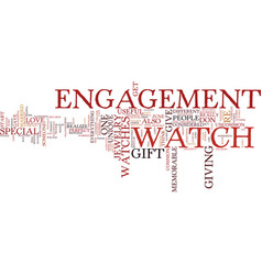 Engagement watches unique or common text vector