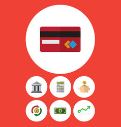 Flat icon finance set of interchange calculate vector