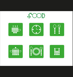 food icon set from circles vector image