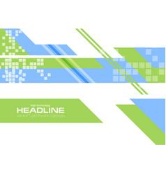 green blue flat minimal technology background vector image