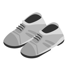 Grey shoes icon isometric style vector
