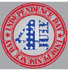 Happy independence Day the 4th july vector