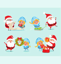 Happy new year list of gifts vector