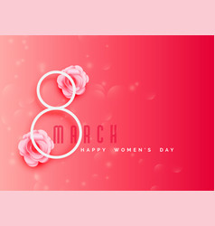 happy womens day celebration background in pink vector image