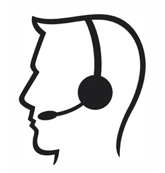 headset symbol vector image