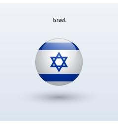 Israel round flag vector