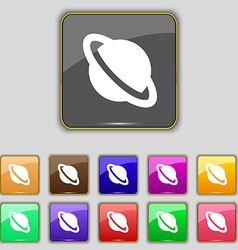 Jupiter planet icon sign Set with eleven colored vector image