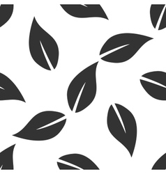 Leaf icon pattern on white background vector