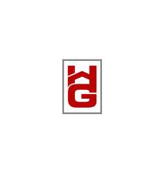 Letter hg modern vector