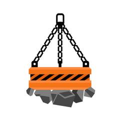 Lift platform icon flat style vector