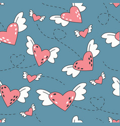 love seamless pattern valentine day creative vector image